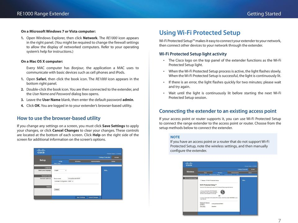 Getting Started  Linksys RE1000 Wireless-N Extender - PDF
