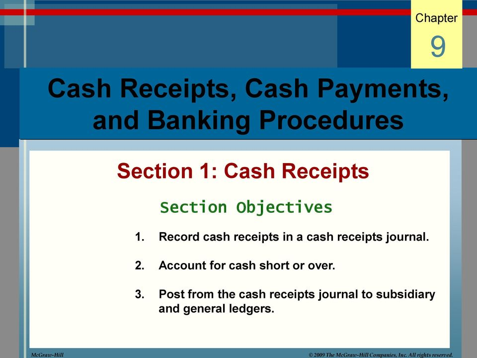 cash receipts cash payments and banking procedures pdf