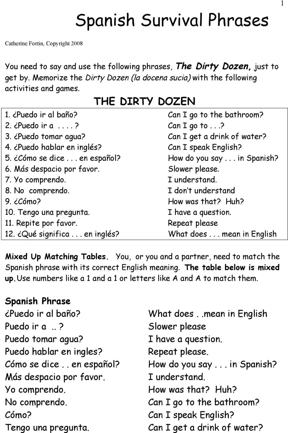 Spanish Survival Phrases - PDF on need to use the bathroom, can i go too, can i go to space, waiting for the bathroom, unable to go to bathroom, i can use the bathroom, go hotel bathroom, urge to go to bathroom, waiting to use the bathroom, can i go to school, went to bathroom, clip art going to the bathroom, urgency to use the bathroom, meme don't stink up the bathroom,