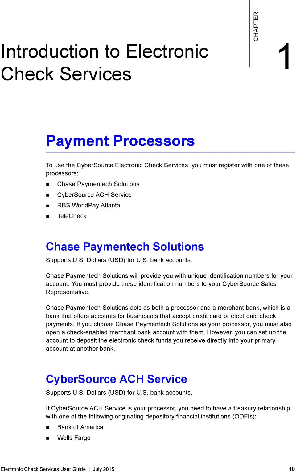 Electronic Check Services - PDF