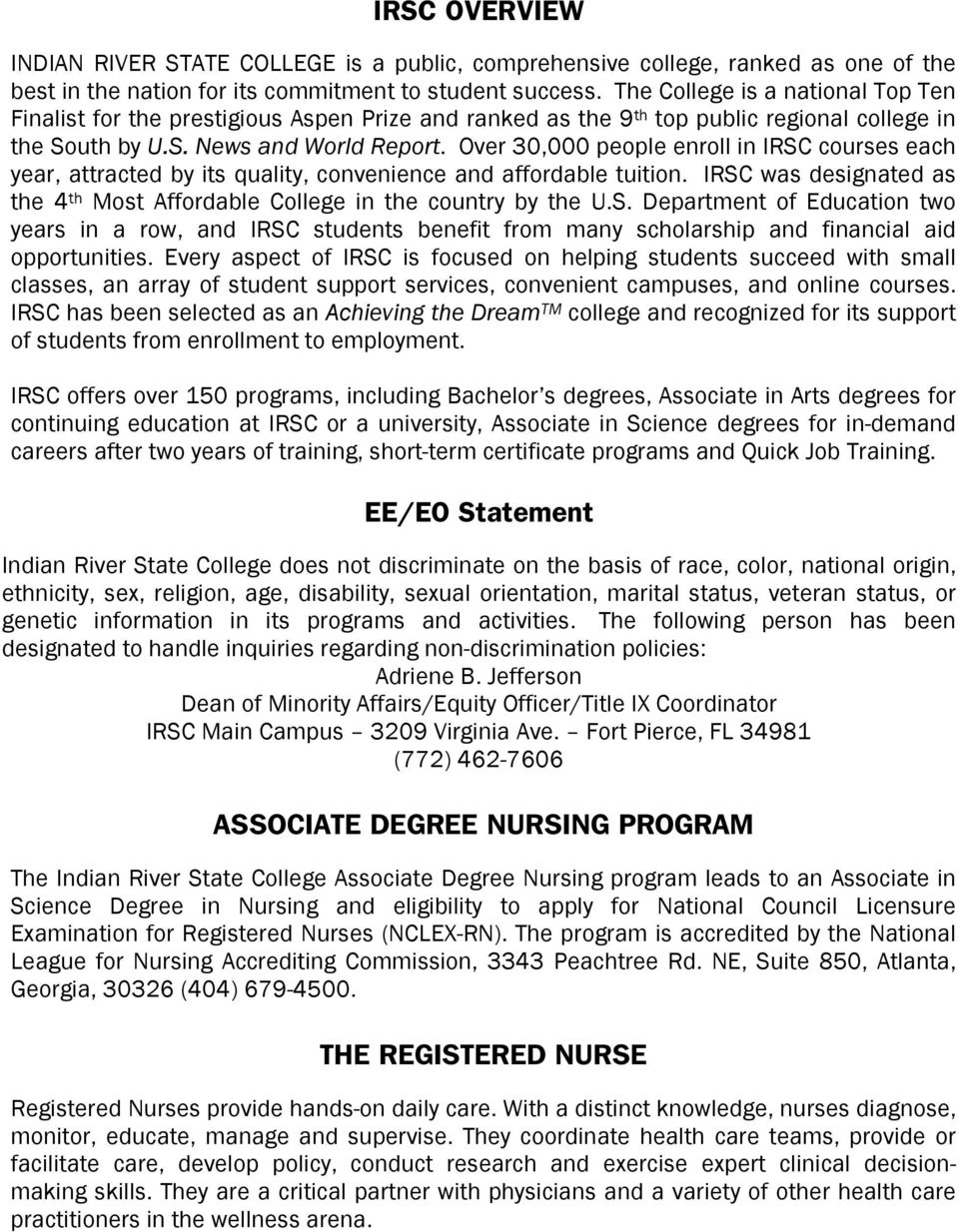 Associate Degree Nursing Adn Pdf