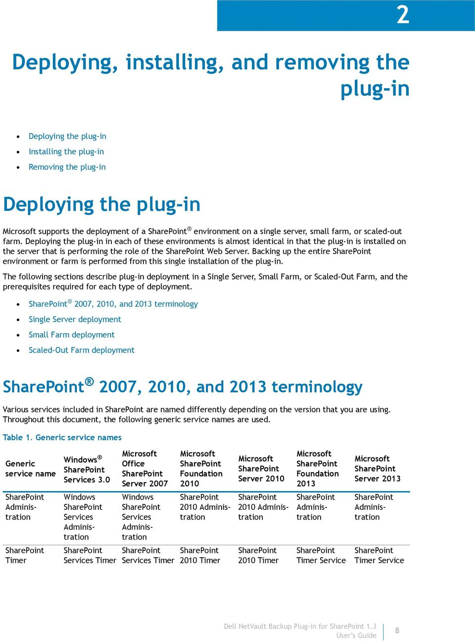 Deploying the plug-in in each of these environments is almost identical in that the plug-in is installed on the server that is performing the role of the Web Server.