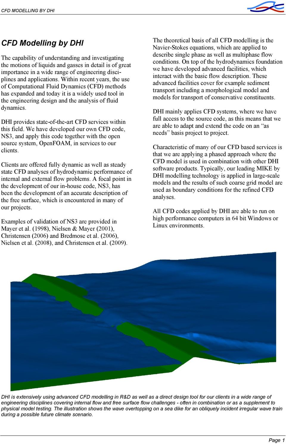 CFD MODELLING BY DHI  Statement of Qualifications - PDF