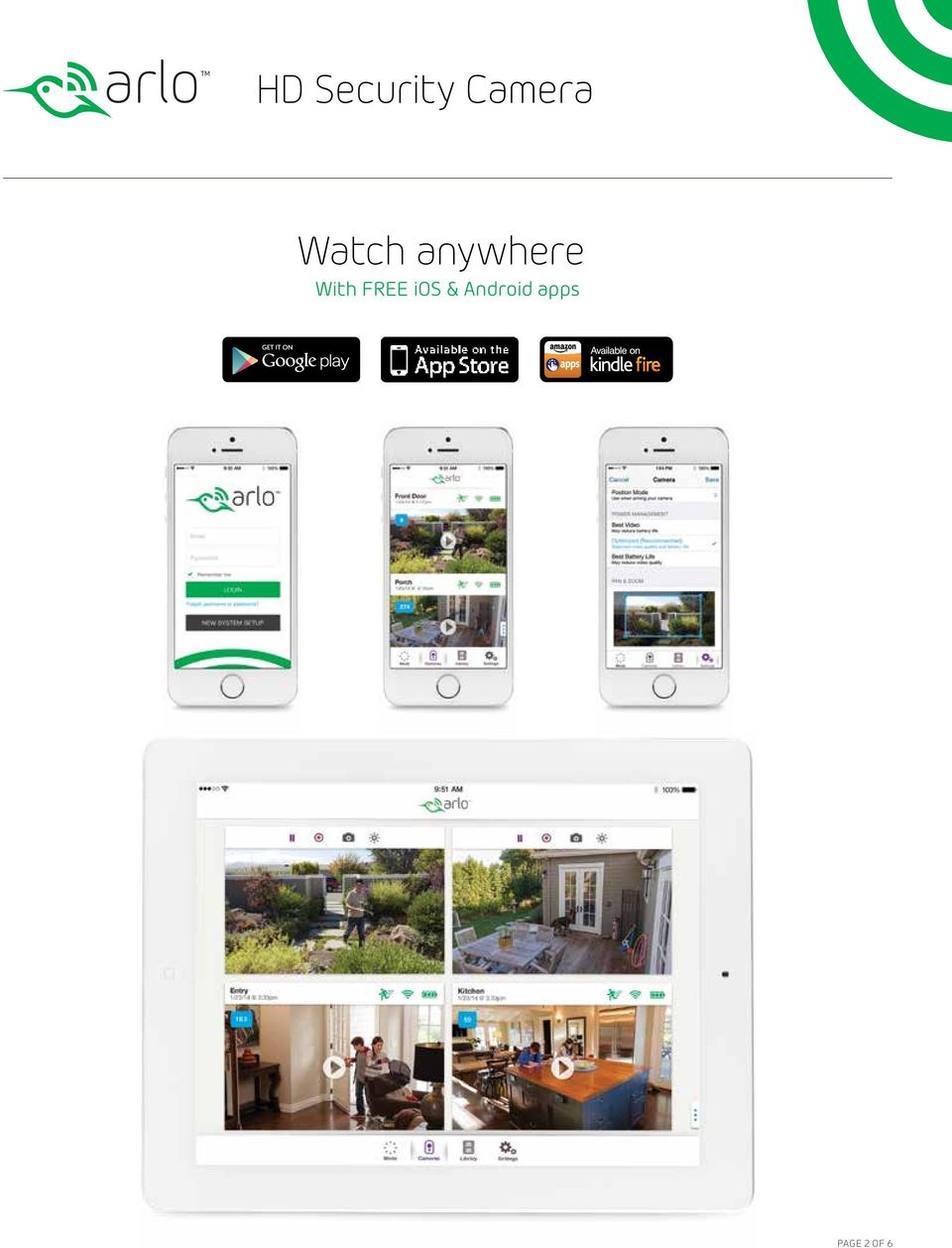 arlo camera app for android