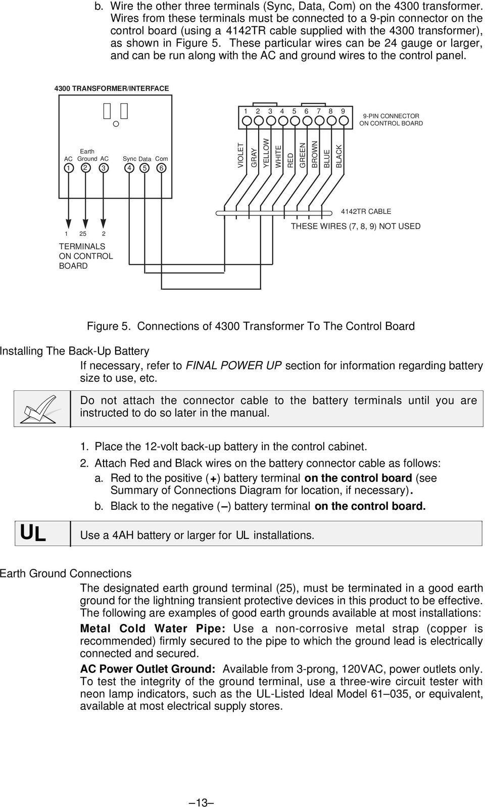 Vista 20se Installation Instructions 2 Partitioned Security System Pdf Battery Terminal Wiring Diagram These Particular Wires Can Be 24 Gauge Or Larger And Run Along With