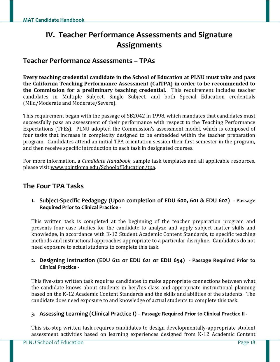 Mat Handbook Master Of Arts In Teaching Single Subject Multiple Subject Special Education Pdf Free Download