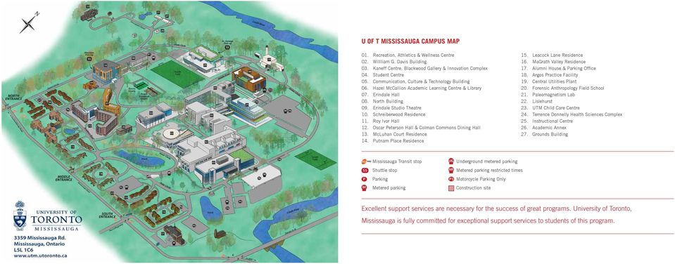 U O F T Campus Map.Master Of Science In Sustainability Management University Of Toronto