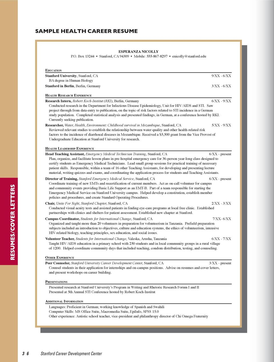 RESUMES/COVER LETTERS - PDF Free Download