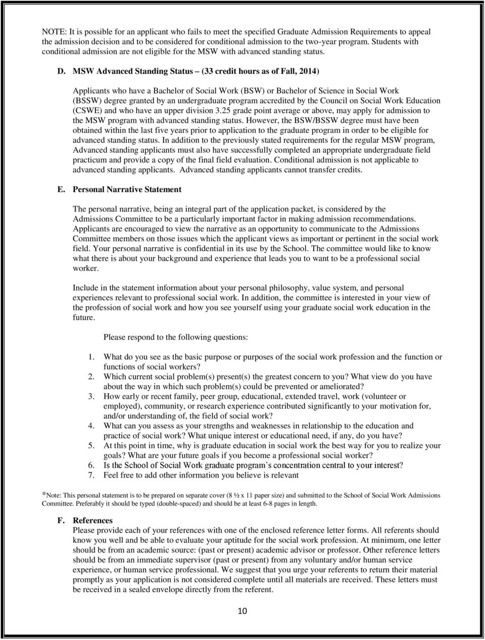 msw personal statement csula