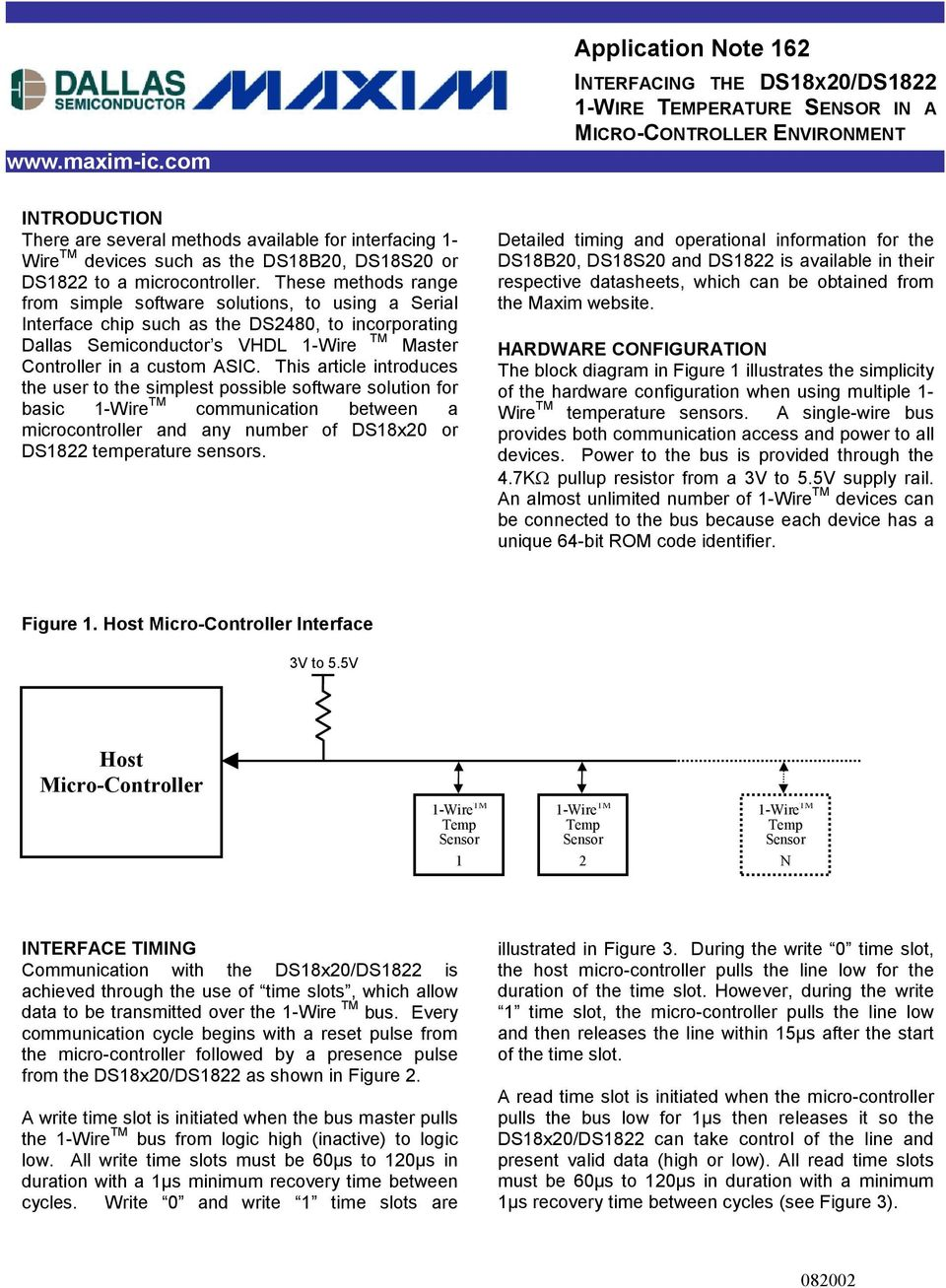 Application Note 162 INTERFACING THE DS18X20/DS WIRE TEMPERATURE ...
