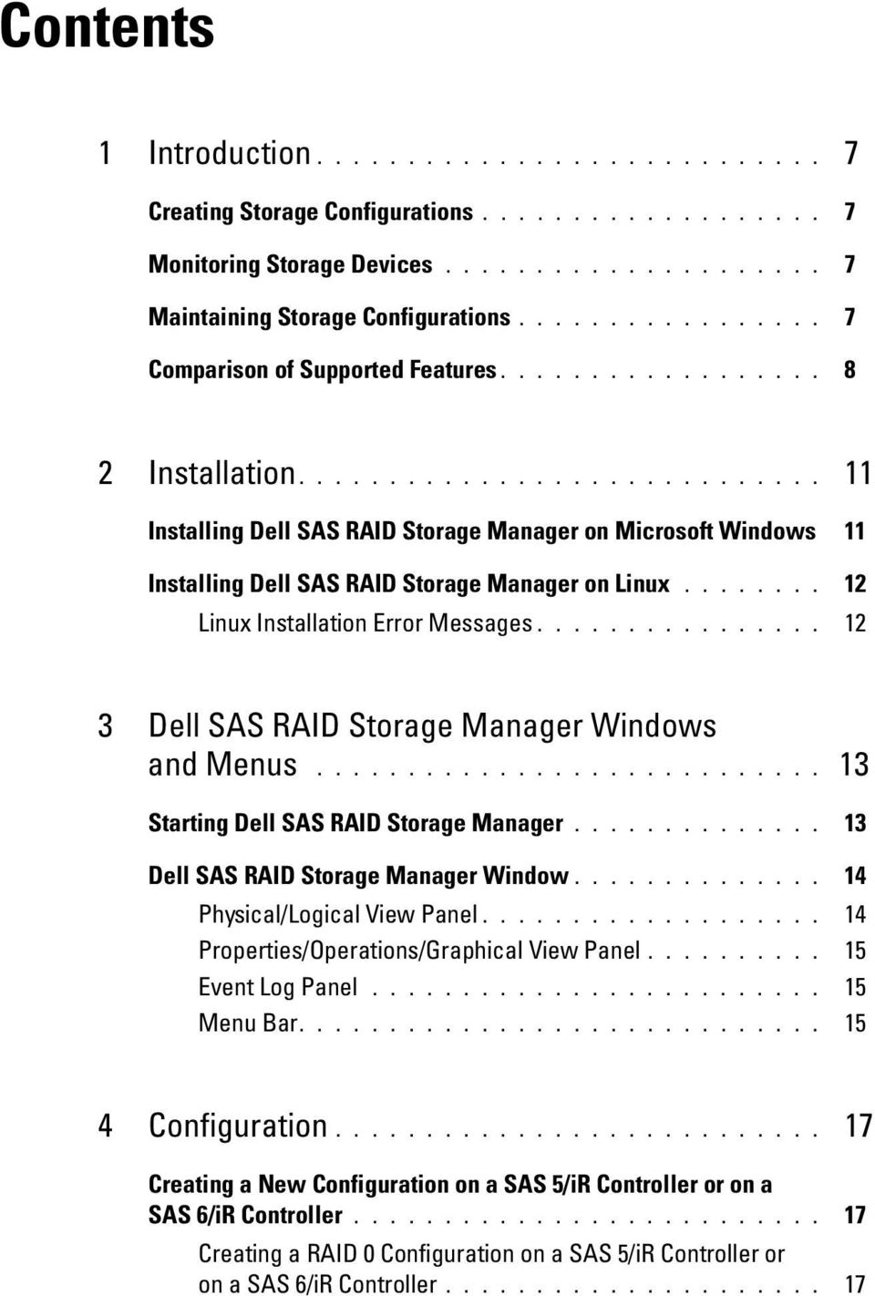 Dell SAS RAID Storage Manager  User s Guide  support dell