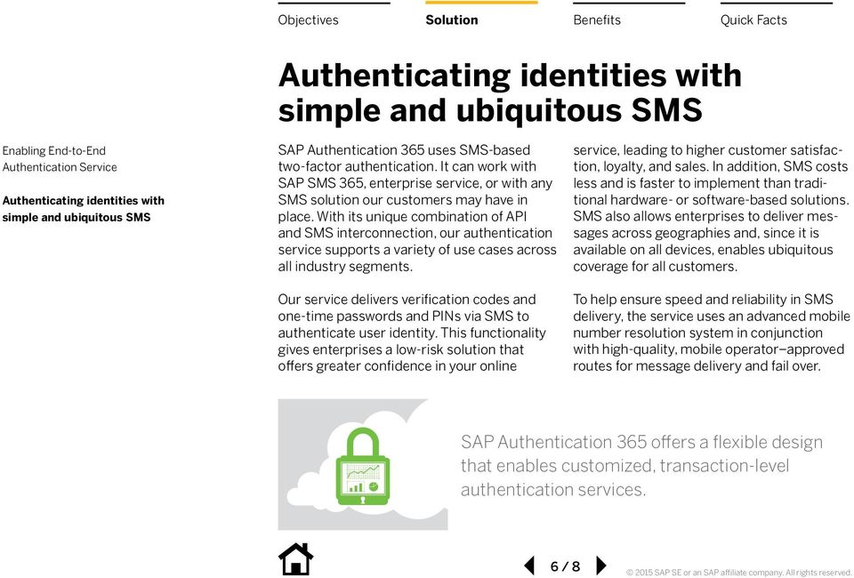 Our service delivers verification codes and one-time passwords and PINs via SMS to authenticate user identity.