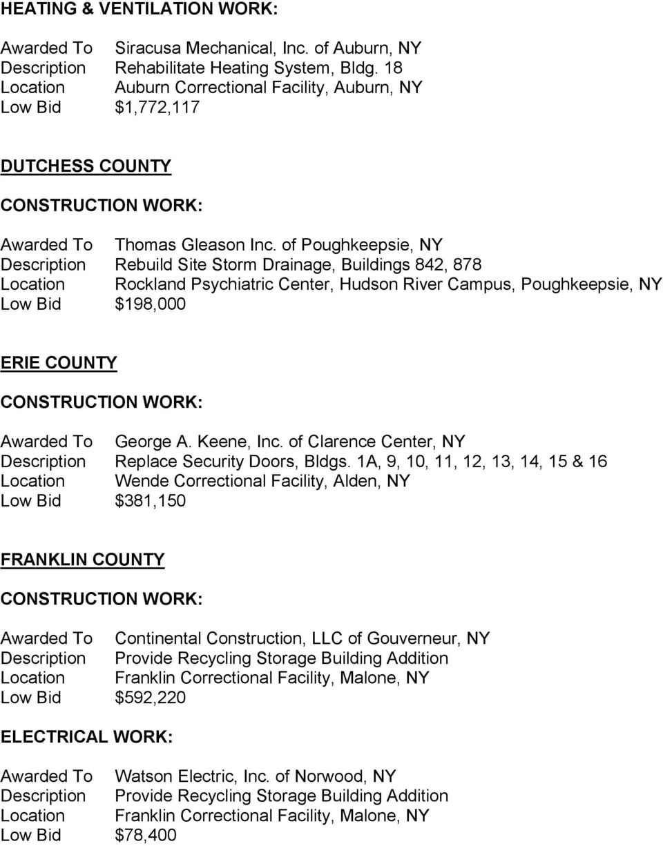 OGS TO AWARD NEW CONSTRUCTION CONTRACTS - PDF