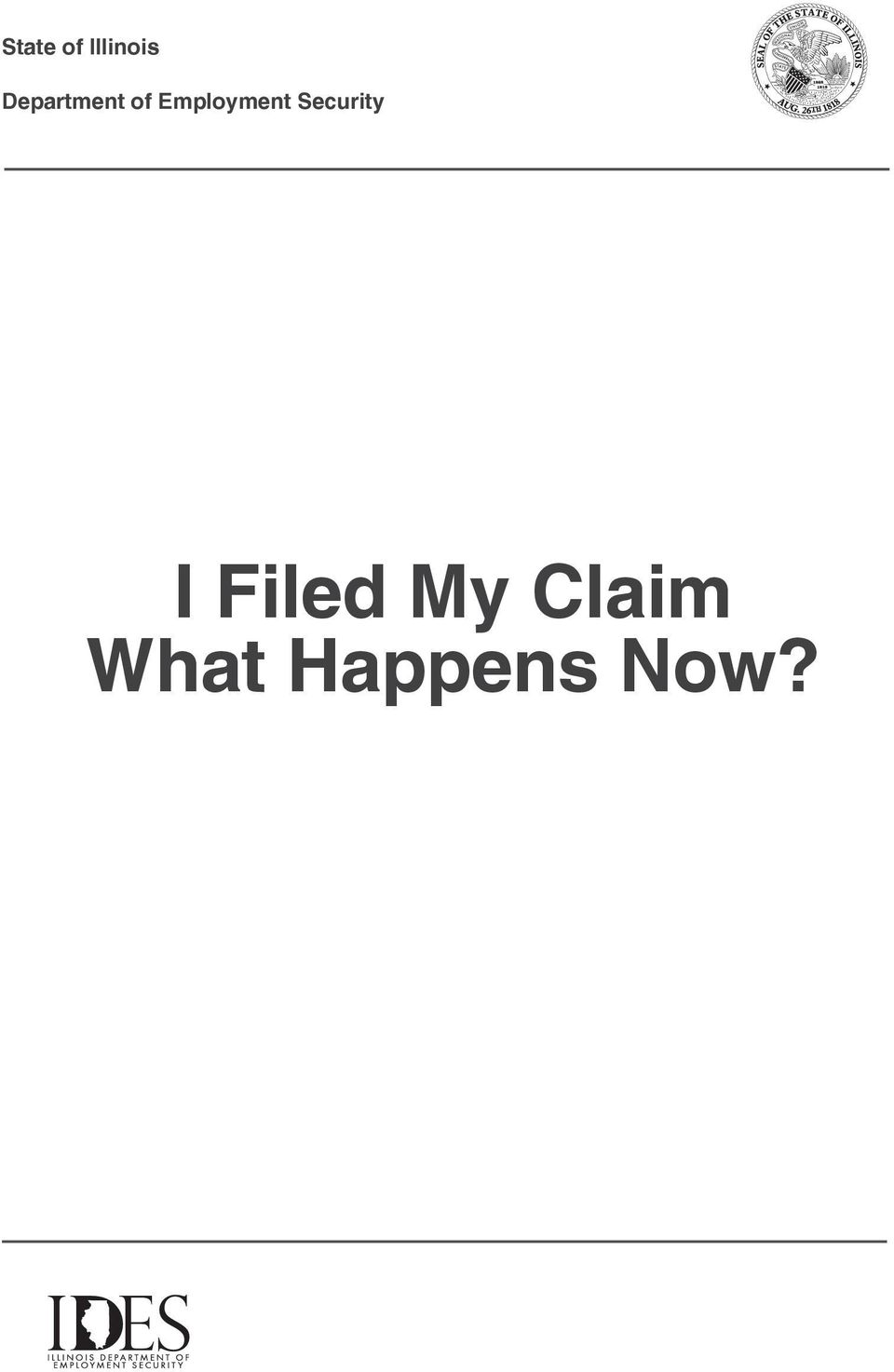I Filed My Claim What Happens Now Pdf