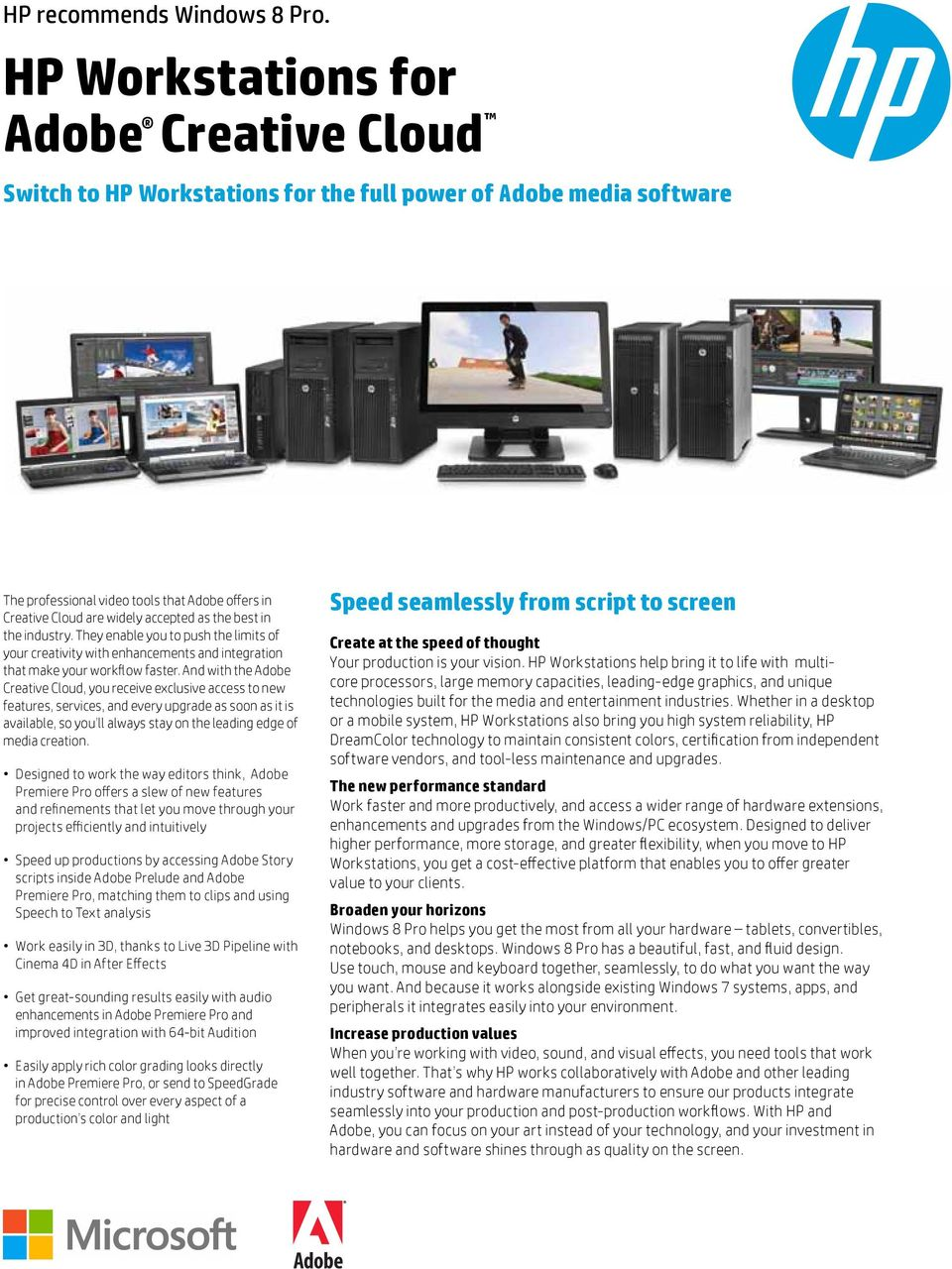 HP Workstations for Adobe Creative Cloud - PDF