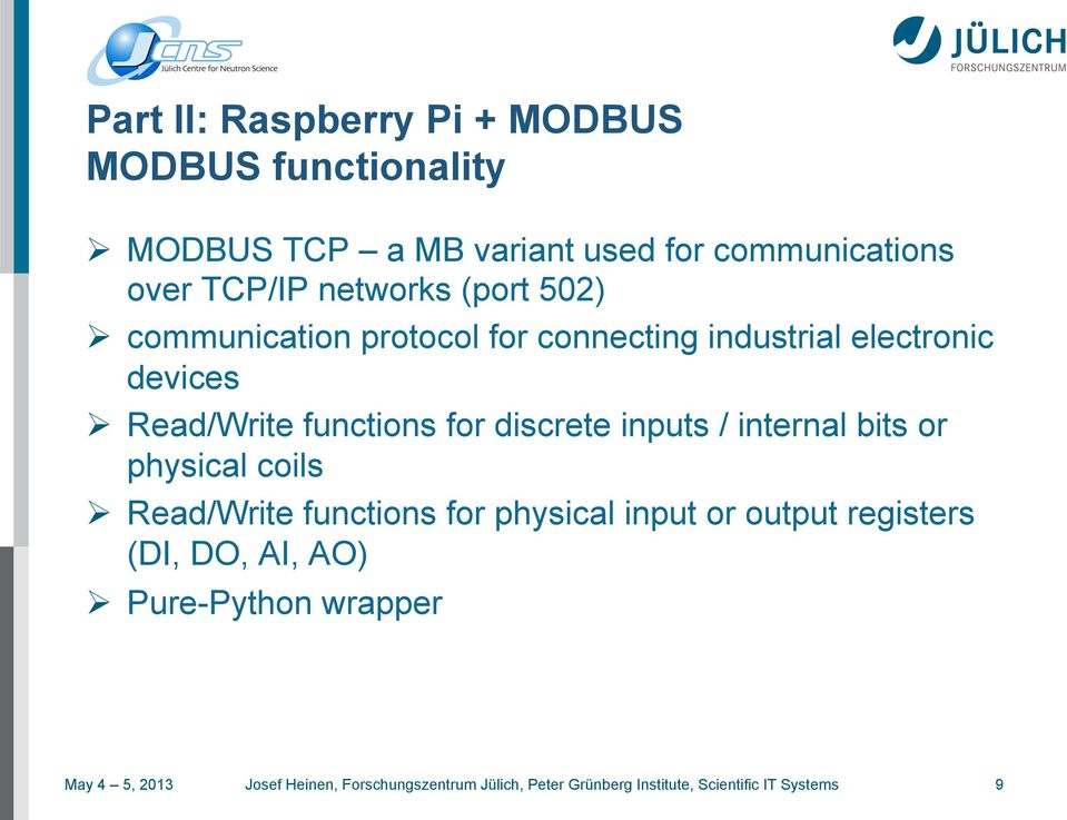 GR Framework / MODBUS on Raspberry Pi - PDF