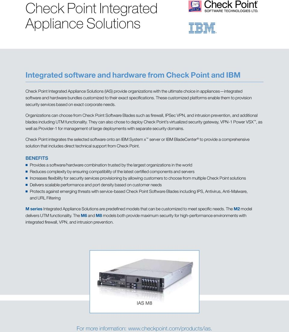 CHECK POINT TOTAL SECURITY APPLIANCES  Flexible Deployment
