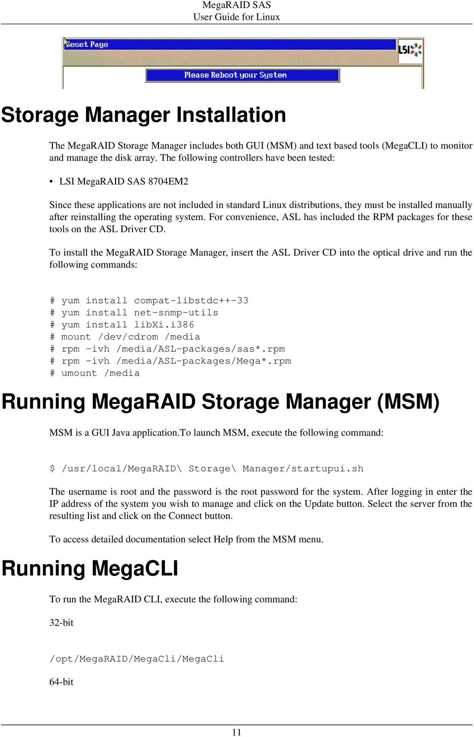 MegaRAID SAS User Guide for Linux - PDF