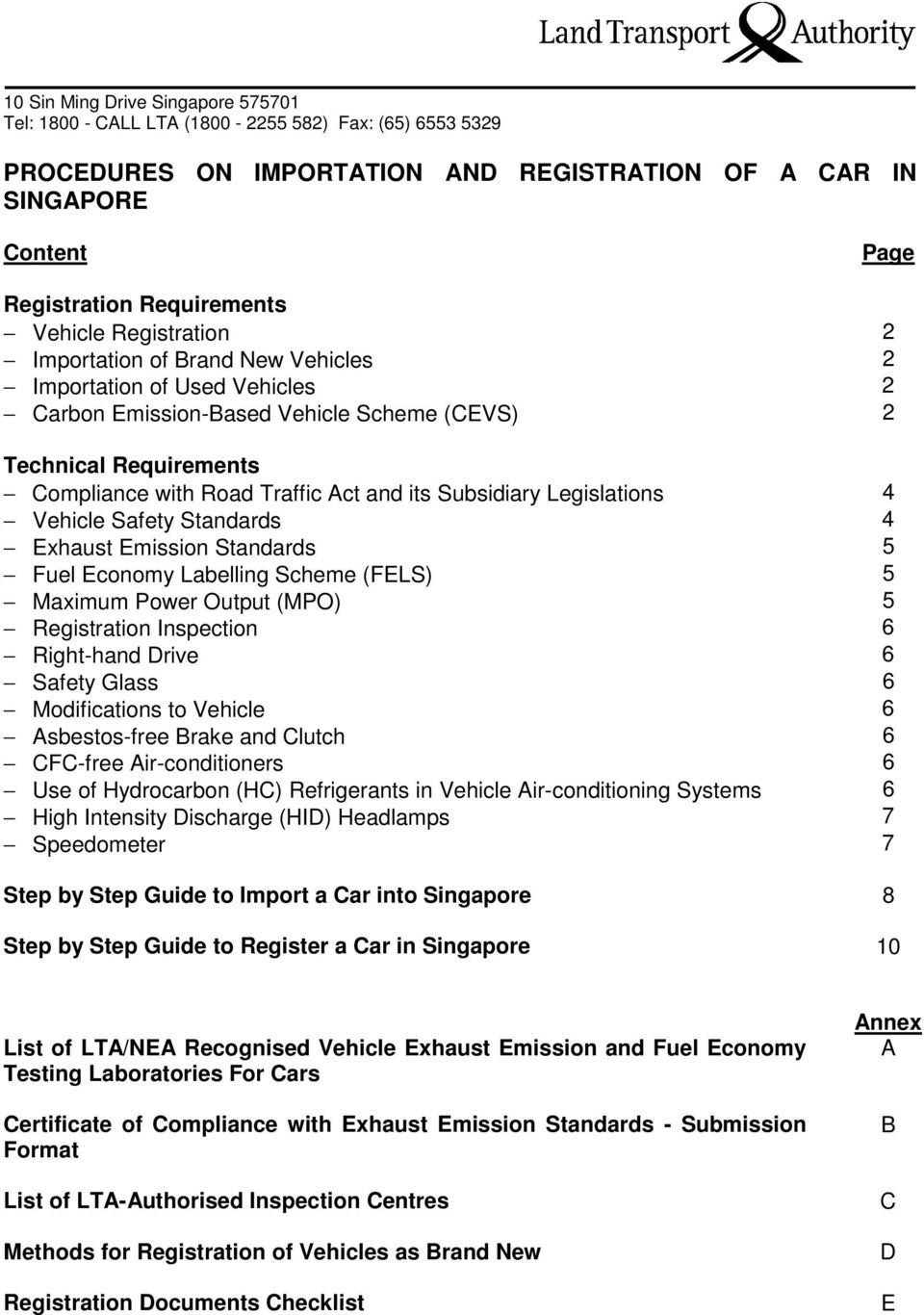 PROCEDURES ON IMPORTATION AND REGISTRATION OF A CAR IN SINGAPORE - PDF