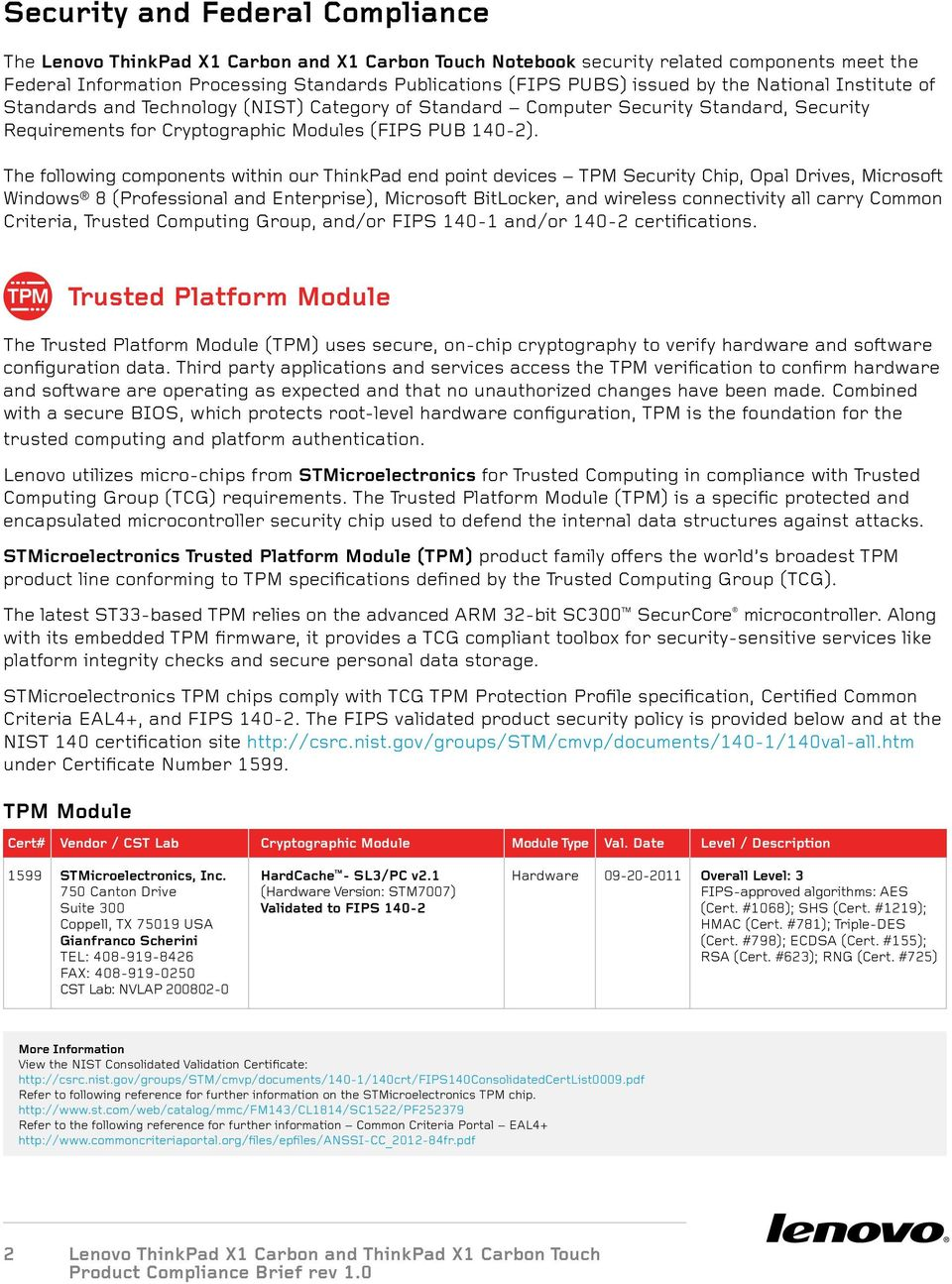 ThinkPad X1 Carbon And X1 Carbon Touch  Product Compliance