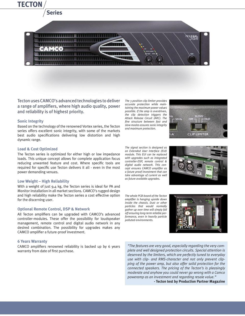 20db Vhf Amplifier Camco Powerful Pure Sonic Performance Pdf And High Dynamic Range Load Cost Optimized The Tecton Series Is For Either