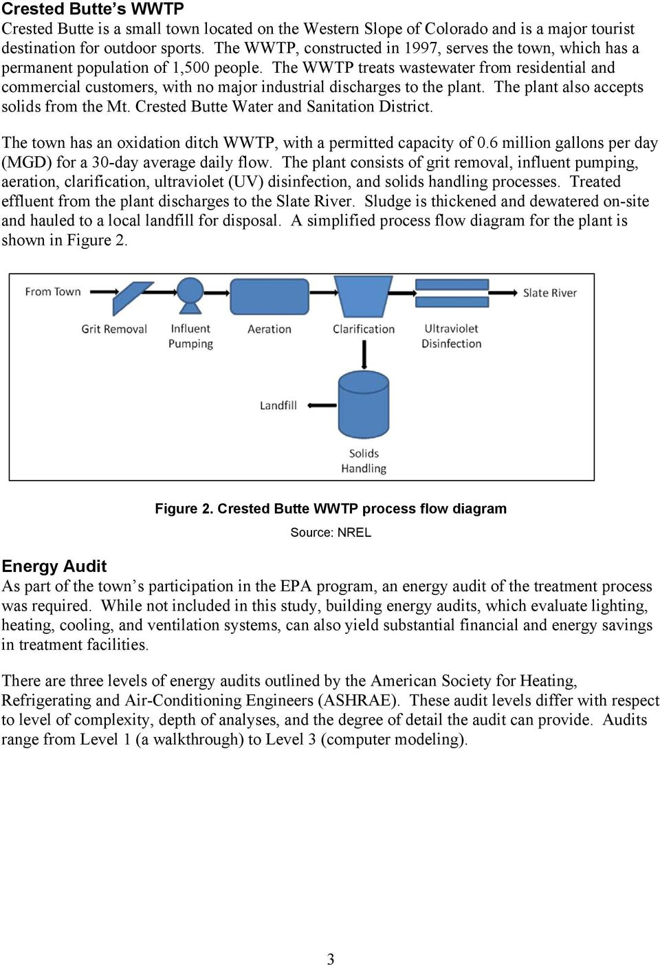 Energy Efficiency Strategies For Municipal Wastewater Treatment Process Flow Diagram Wwtp The Treats From Residential And Commercial Customers With No Major Industrial Discharges To