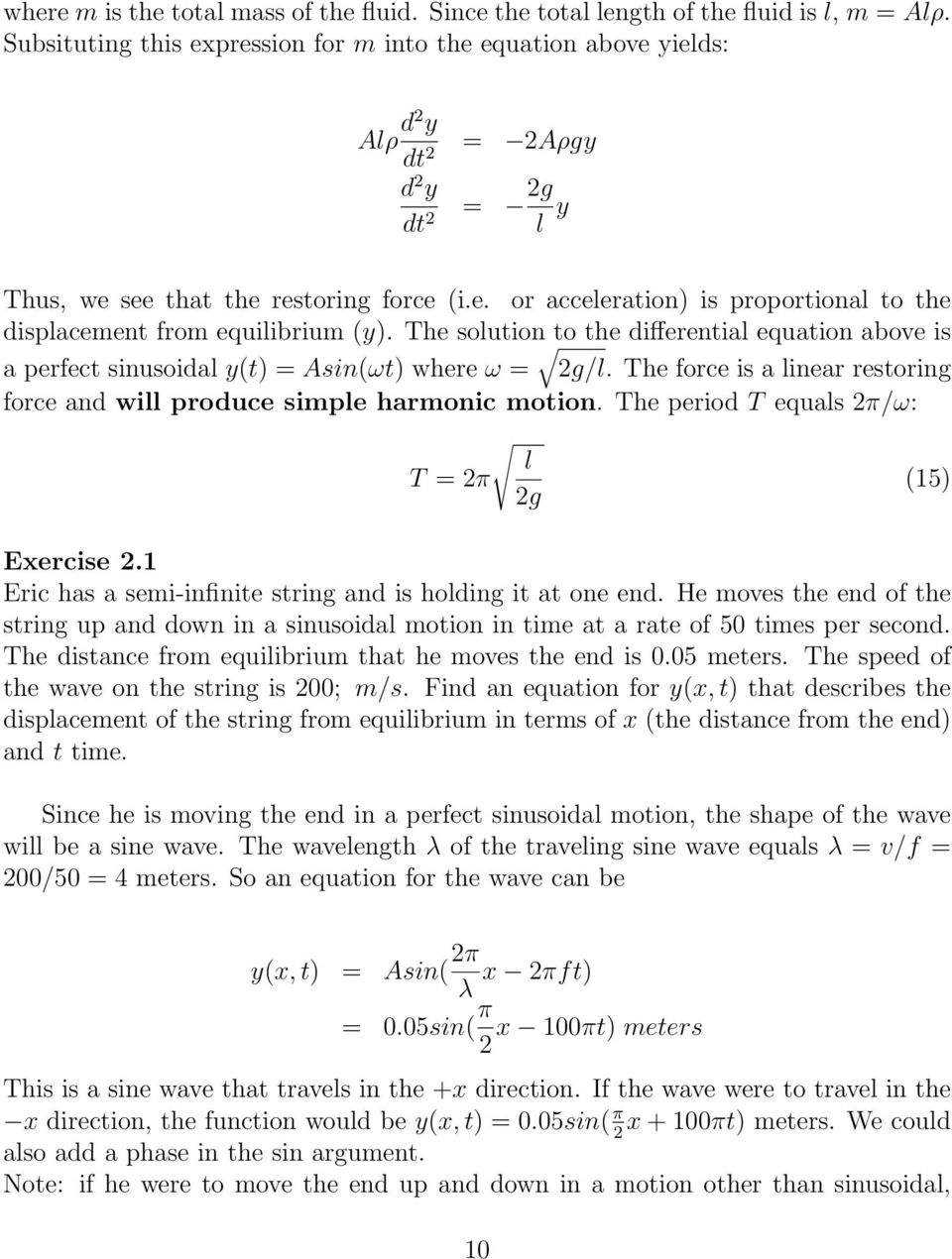 Exercises on Oscillations and Waves - PDF
