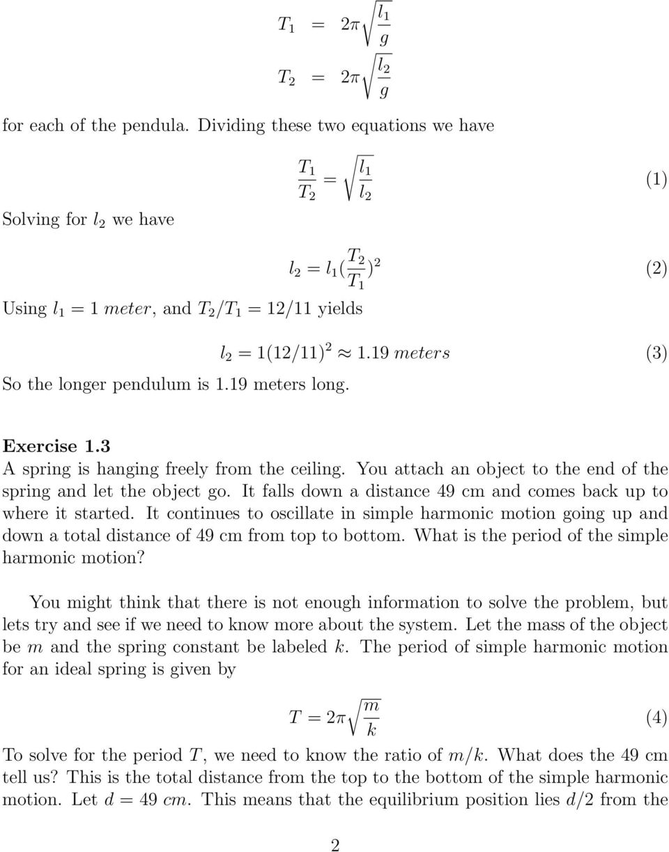 Exercises on Oscillations and Waves - PDF Free Download