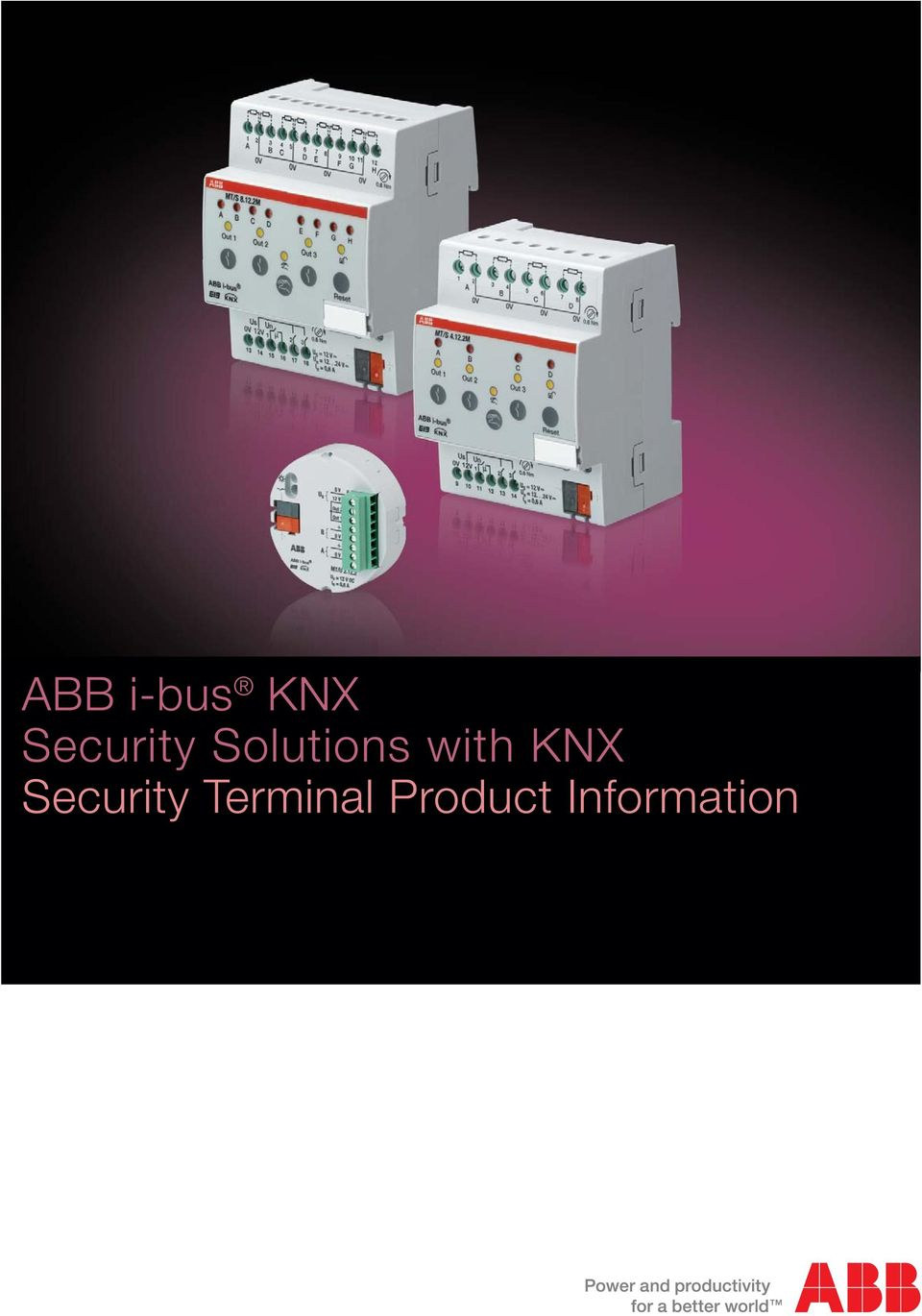 ABB i-bus KNX Security Solutions with KNX Security Terminal