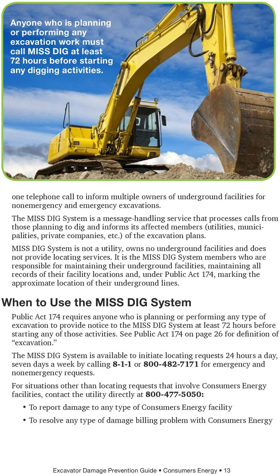 How To Safely Dig Pdf Free Download Have your contractor contact miss dig 811 three days before your project. docplayer net
