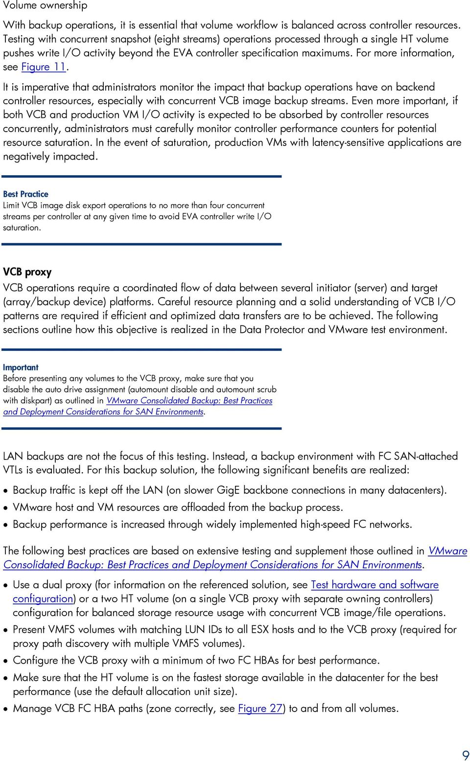 Backup and recovery best practices for the HP EVA array in a VMware