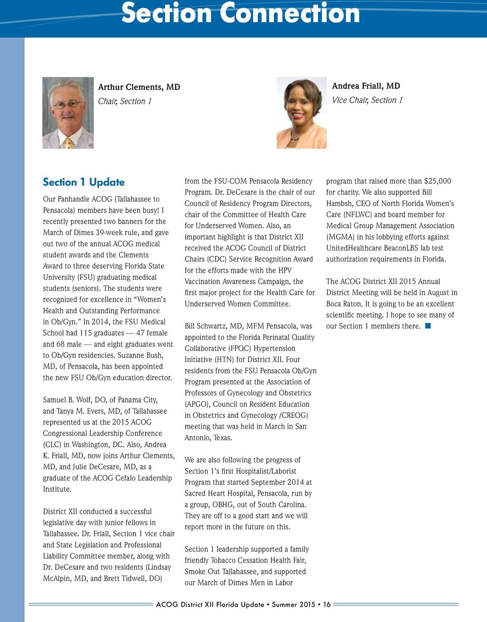 SUMMER Chairman s Message  In This Issue  Was the Formation of ACOG