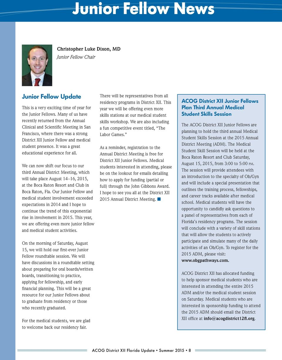 SUMMER Chairman s Message  In This Issue  Was the Formation