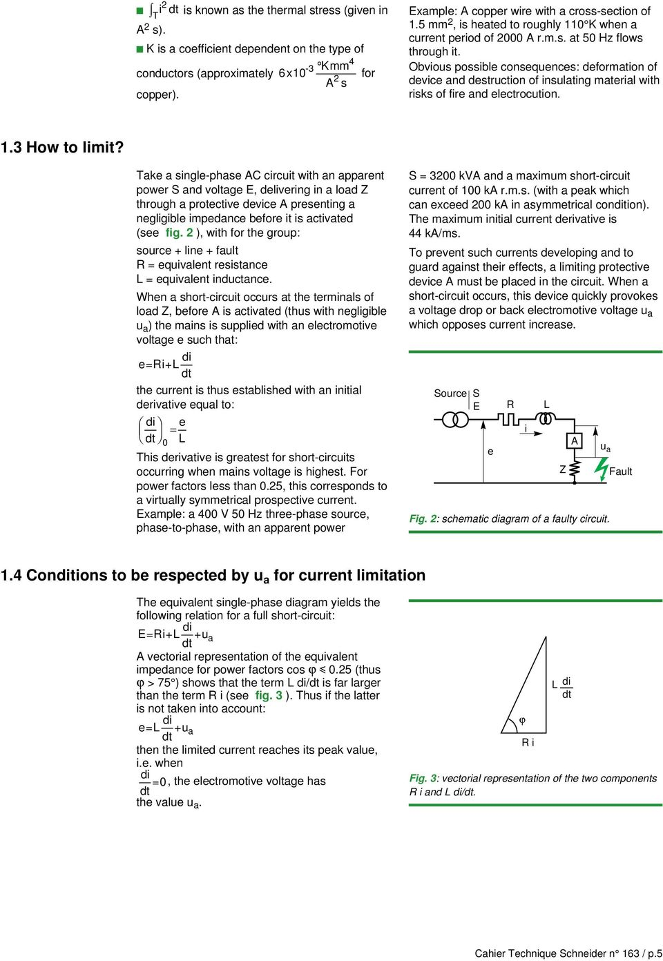 Cahier Technique No Pdf Figure 2 Pushbutton Closed Circuit Current Flows Obvious Possible Consequences Deformation Of Device And Destruction Insulating Material With Risks Fire