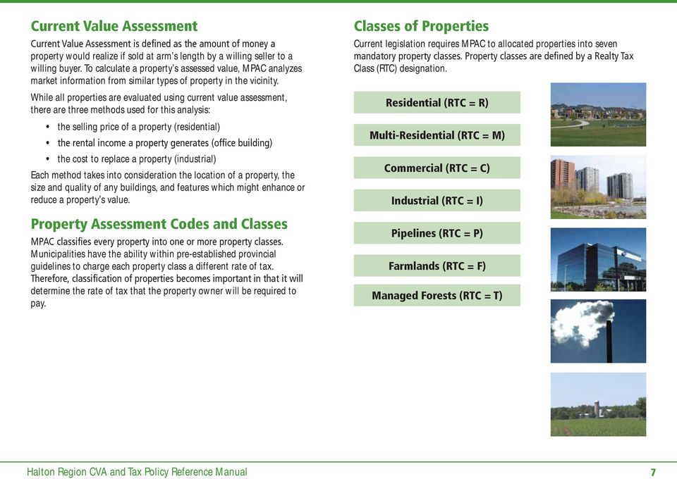Current Value Assessment (CVA) and Tax Policy Reference