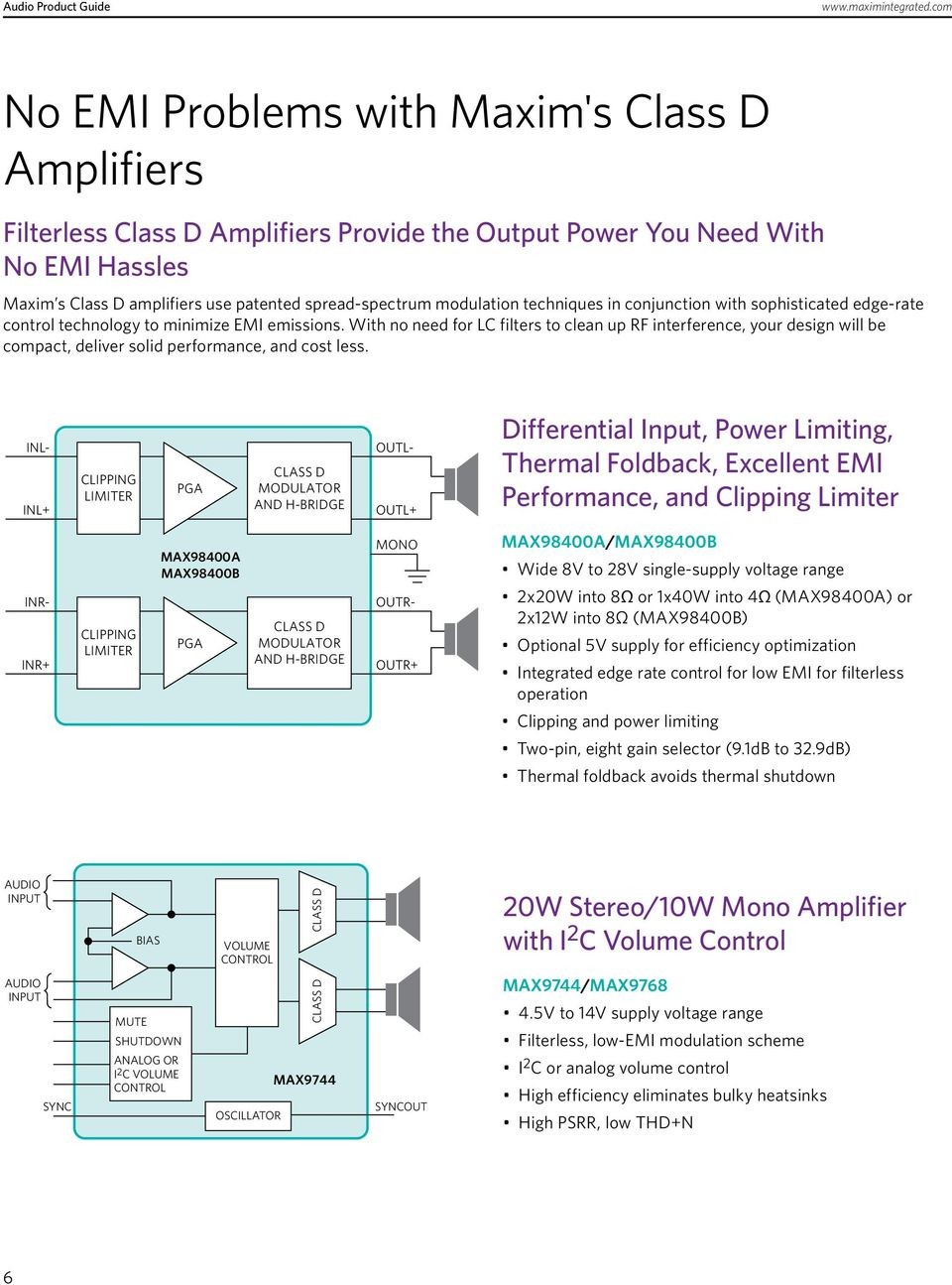 13 Th Edition Audio Product Guide Pdf 20w Stereo Amplifier Based Lm1876 Amplifiercircuit Circuit With No Need For Lc Filters To Clean Up Rf Interference Your Design Will Be