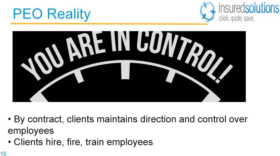 and control over employees