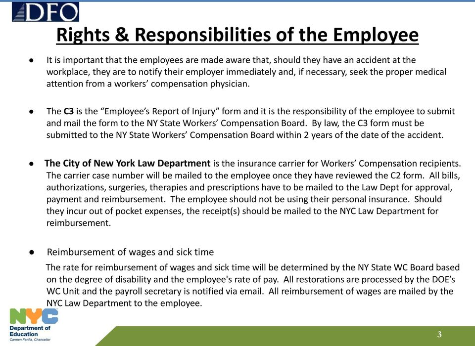 Workers Compensation  Procedures for Submitting a Claim - PDF