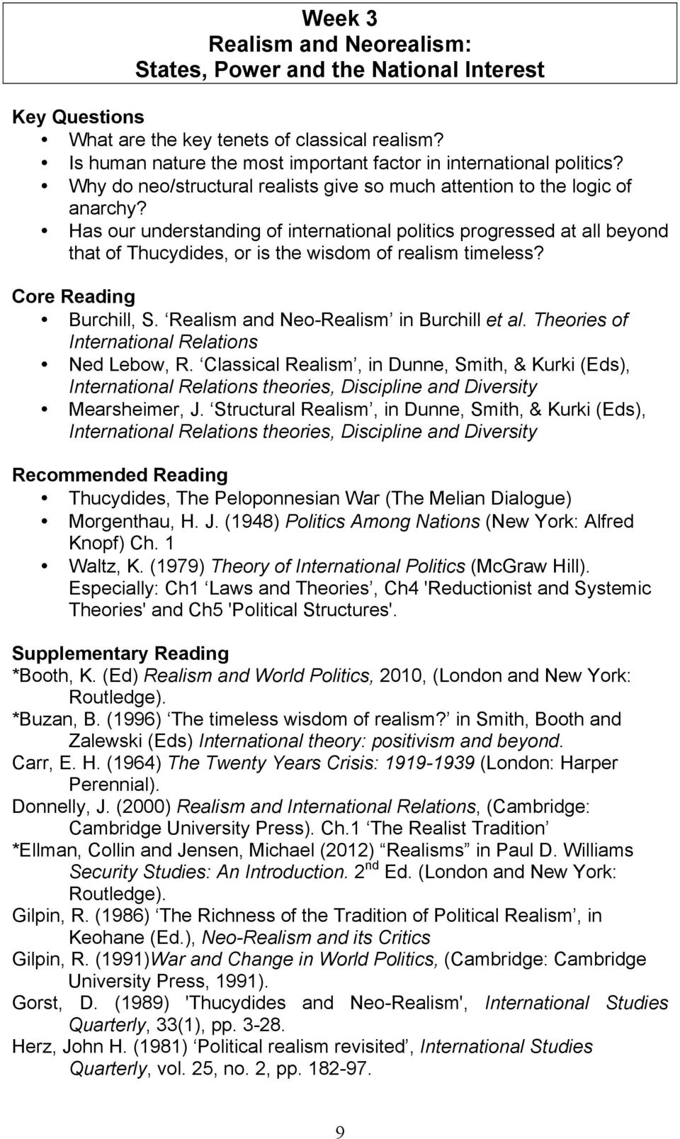 THEORIES AND ISSUES IN INTERNATIONAL RELATIONS - PDF