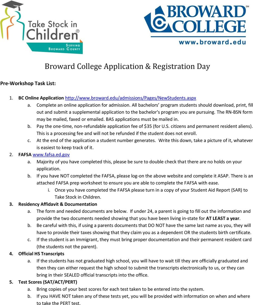 Broward College Application & Registration Day - PDF
