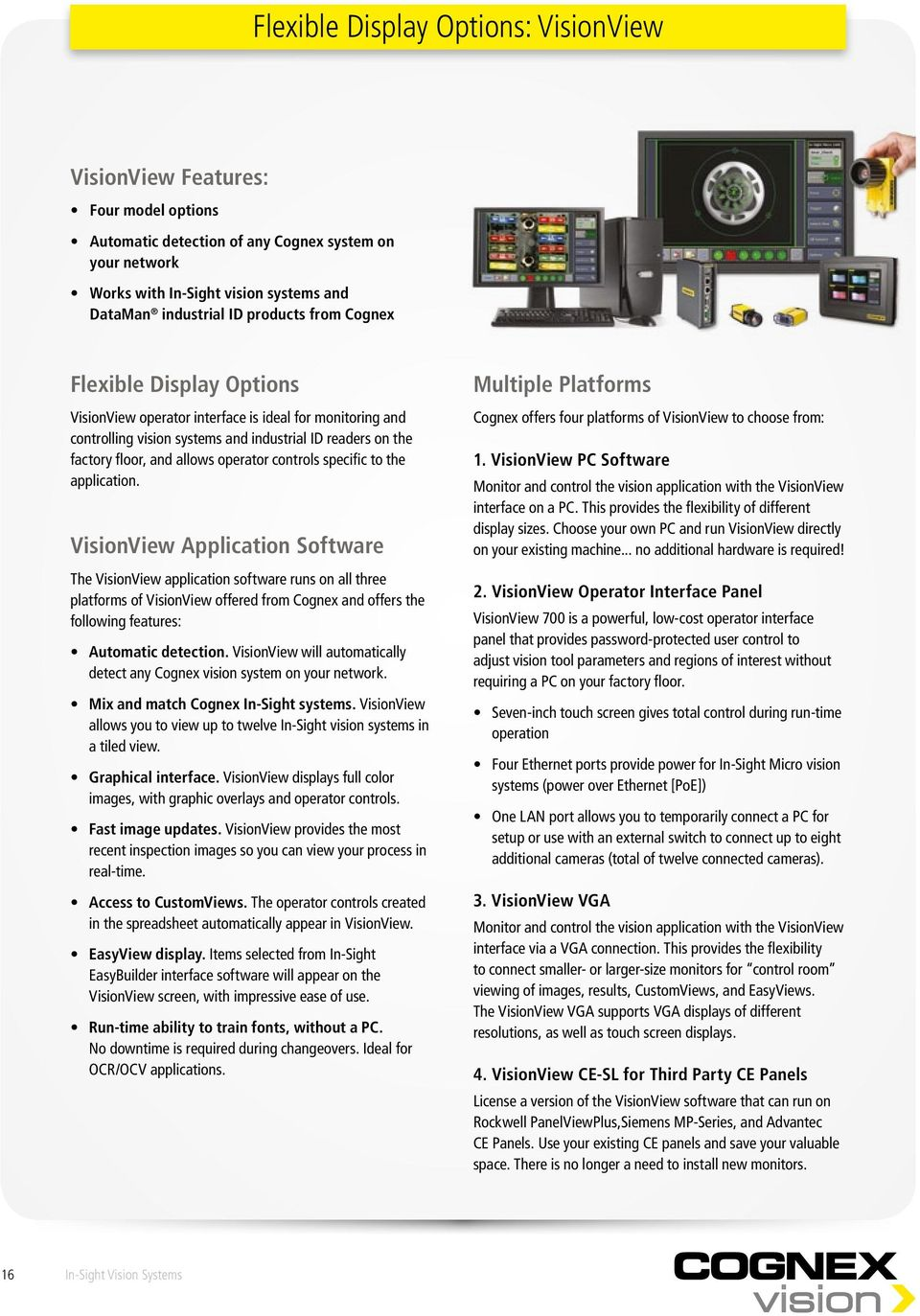 NEW IMAGE TO COME  In-Sight  Vision Systems  Product Guide - PDF