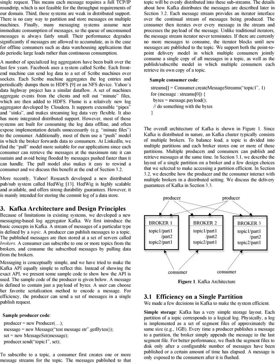 Kafka: a Distributed Messaging System for Log Processing - PDF