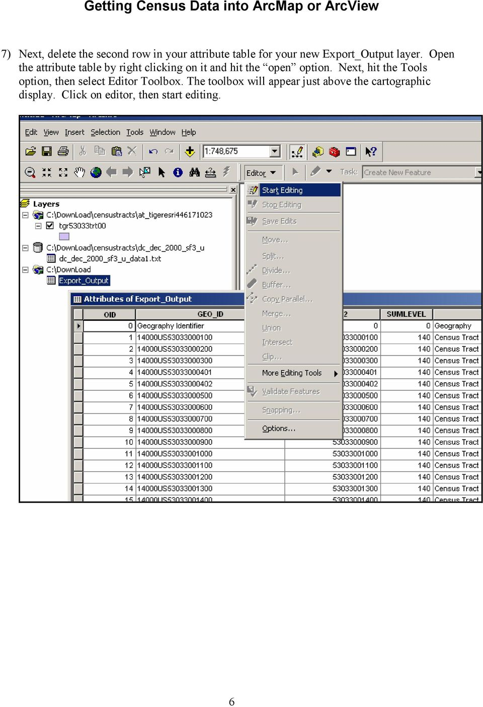 Getting Census Data into ArcMap or ArcView  Obtaining