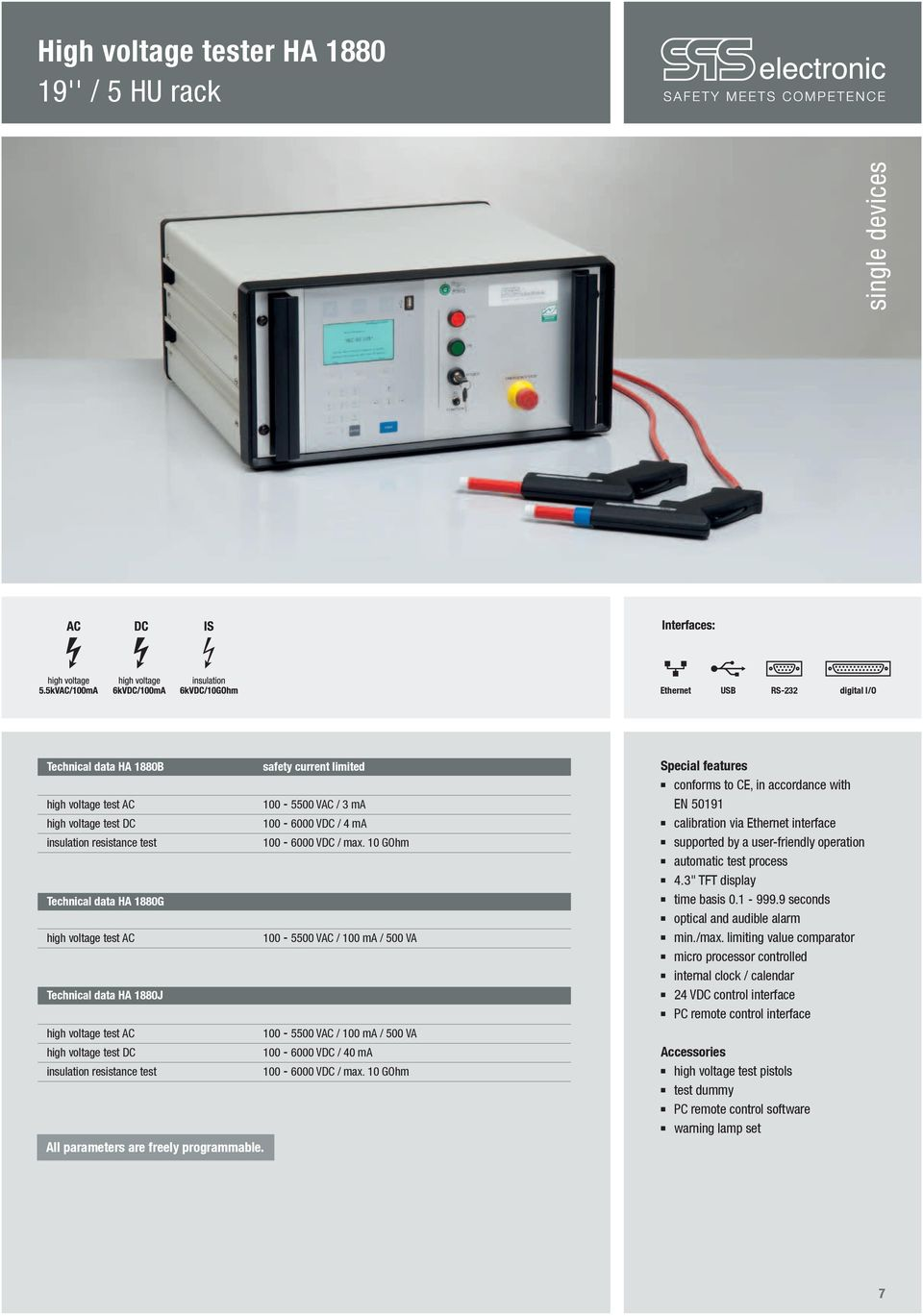 High Voltage Tester Ha 1800 Table Top Device Pdf Find The Fault Audible Short Circuit Finder Operation N Automatic Test Process 43 Tft Display Time Basis 01 9999