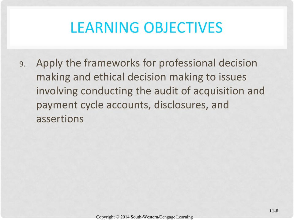 and ethical decision making to issues involving