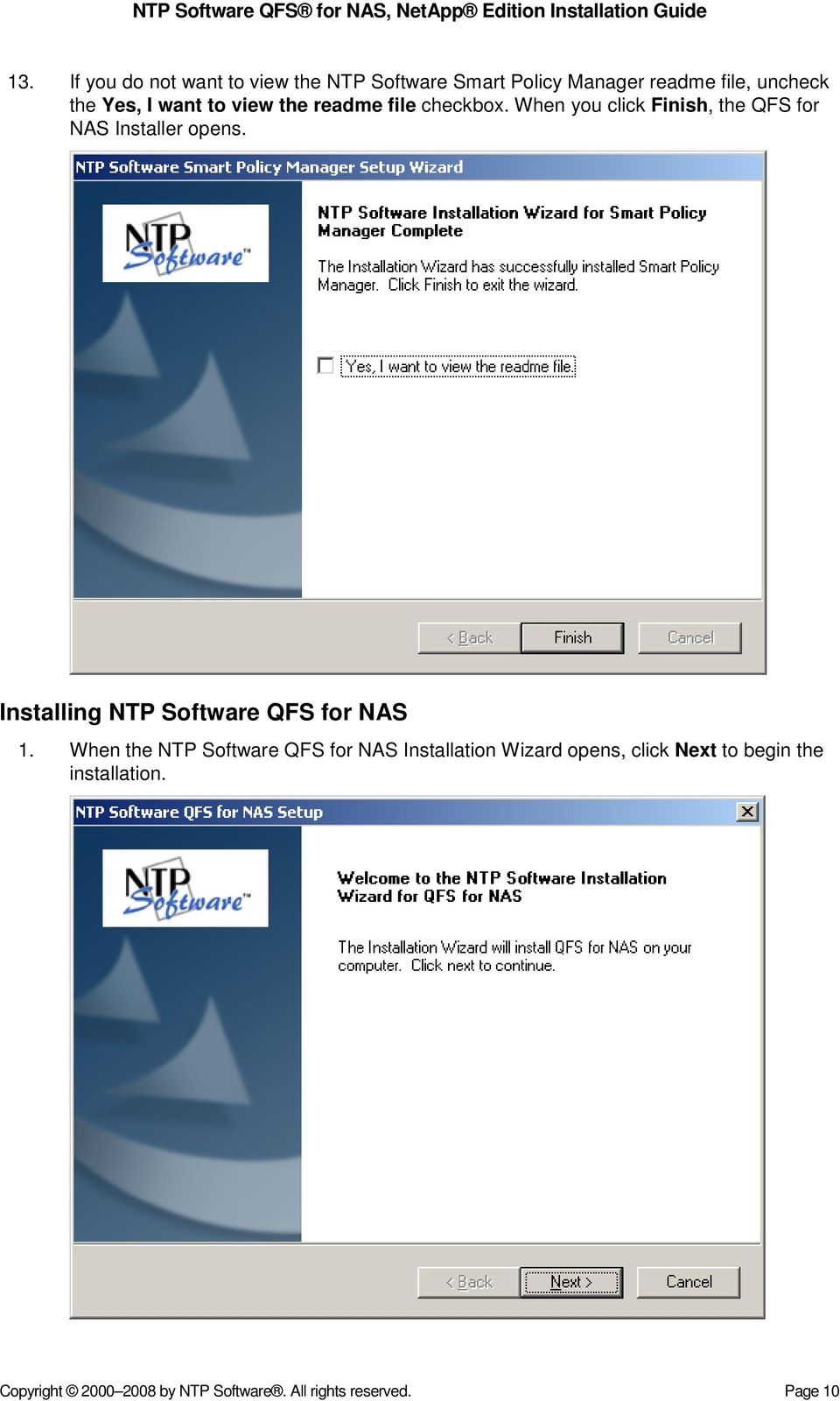 Installing NTP Software QFS for NAS 1.