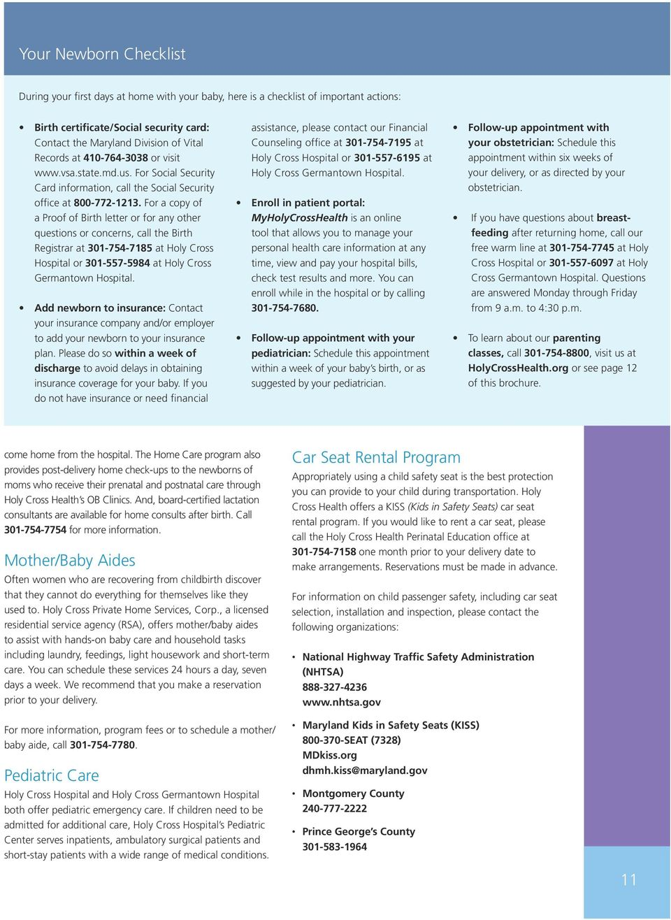 Maternity Services A Guide To Our Comprehensive Care For You And