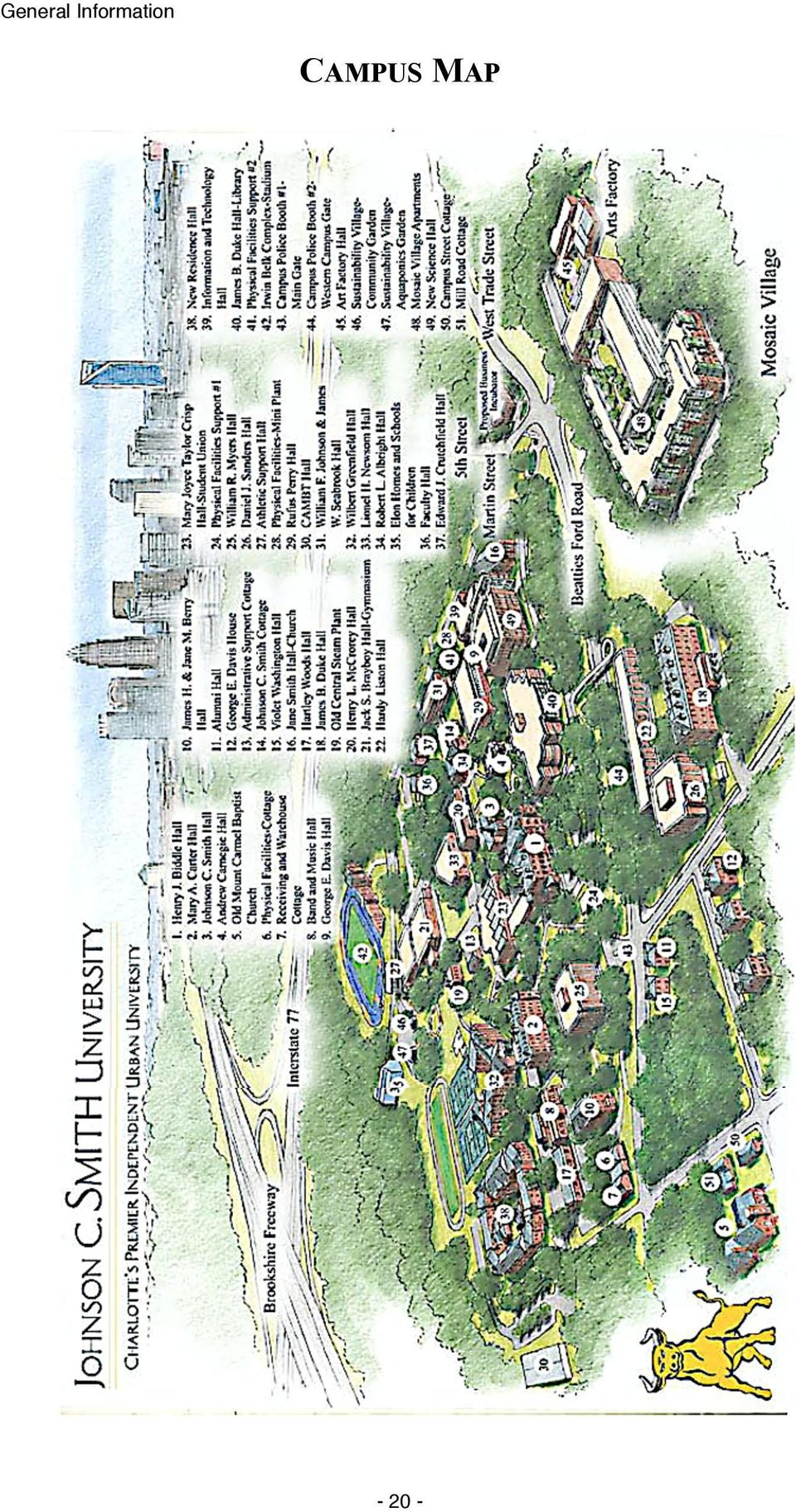 Jcsu Campus Map.Johnson C Smith University Is Accredited By Pdf