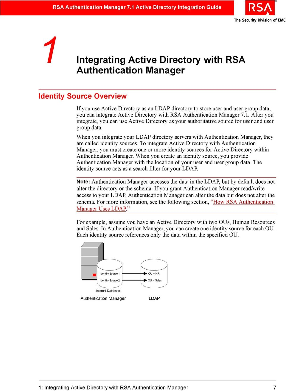 RSA Authentication Manager 7 1 Microsoft Active Directory