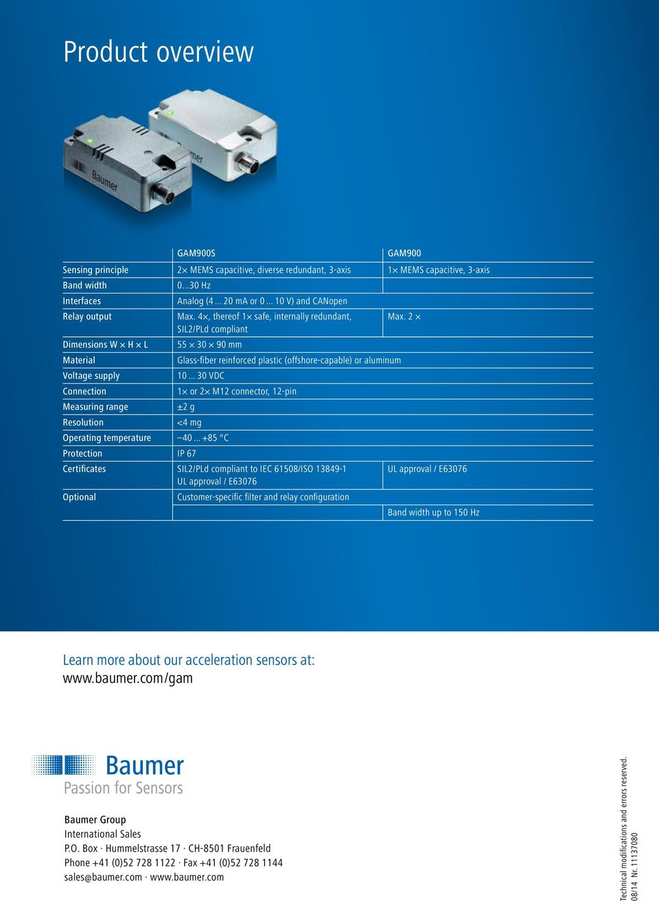 Gam900 Gam900s Acceleration Precisely Measured And Safely Monitored Relays Class 8501 8 Pin Wiring Diagram 2 Sil2 Pld Compliant Dimensions W H L 55 30 90 Mm Material Glass Fiber Reinforced